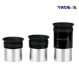 "China : 3 pcs/Set SVBONY 1.25"" Eyepiece K4mm+K9mm+K25mm Tele"