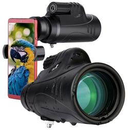 TELMU Compact Portable Telescope High Power Monocular Telesc