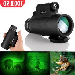 Day Night Vision 100x90 HD Optical Monocular Hunting Camping