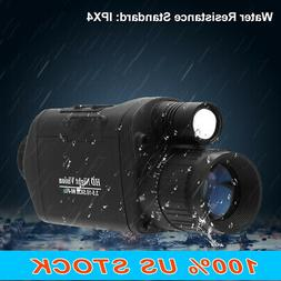 Digital Monocular Night Vision-Infrared IR Camera with 1.5 i