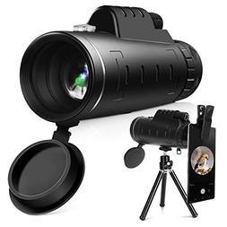 YISSVIC 40X60 Dual Focus Monocular Telescope with Phone Hold