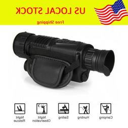 "WG-37 1.44"" Monocular Zoom Night Vision Scope Binoculars 5x4"