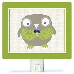 Oopsy Daisy Fine Art for Kids Happy Owl Night Light by Vicky