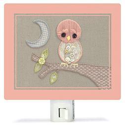 Oopsy Daisy Fine Art for Kids Vintage Baby Owl Night Light b