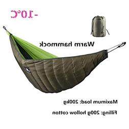 hammock underquilt sleeping winter warm