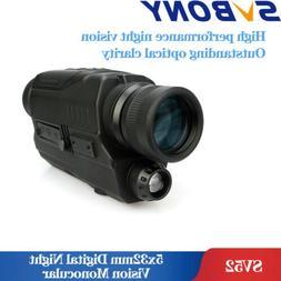 SVBONY HD 5x32mm Digital Night Vision Monocular 0.3 Mega Pix
