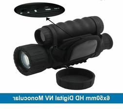 HD Infrared Night Vision Monocular IR Telescope 6x50 Zoom Re