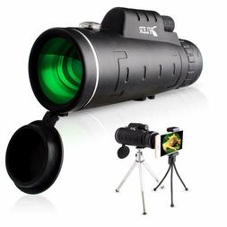 HD Monocular Starscope Phone Camera Zoom Lense+Tripod Bag Ph