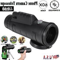HD Monocular Telescope Phone Camera Zoom Starscope Hike Hunt