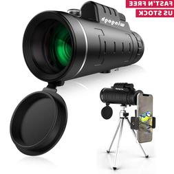HD Monocular Telescope Phone Camera Zoom Starscope Hiking Hu