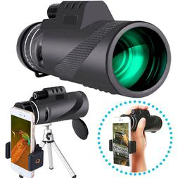 HD Monocular Telescope with Smartphone Adapter Tripod for Tr