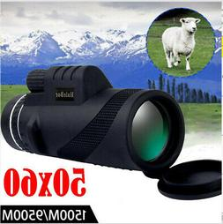 High Power 50X60 BAK4 HD Monocular Telescope Shimmer Night V