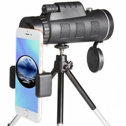 High Power Monocular Telescope and Quick Smartphone Holder f