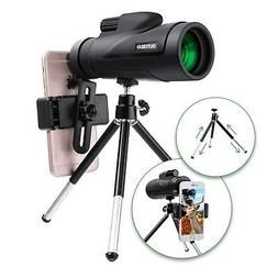 High Power Monocular Telescope, OUTERDO New 12x50 Dual Focus