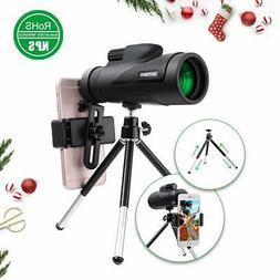 High Power Monocular Telescope OUTERDO New 12x50 Dual Focus