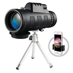 High Power Monocular Telescope Scope with Phone Clip and Tri