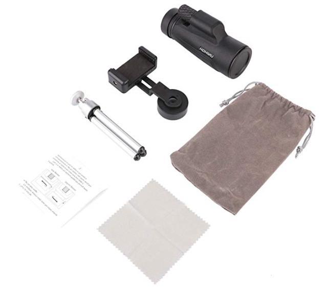 12X50 Power Monocular HD Focus Waterproof Compact Monocular