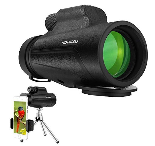 12X50 High Monocular HD Waterproof wit
