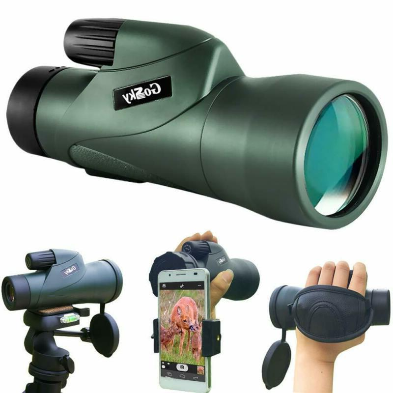 10x50 high definition monocular telescope and quick