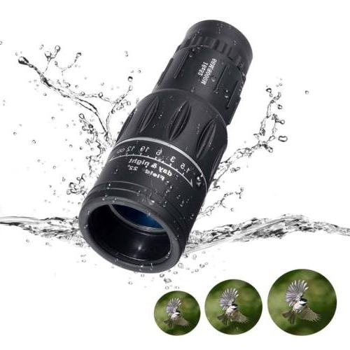 16X52 Dual Optical Day/Night Monocular Telescope