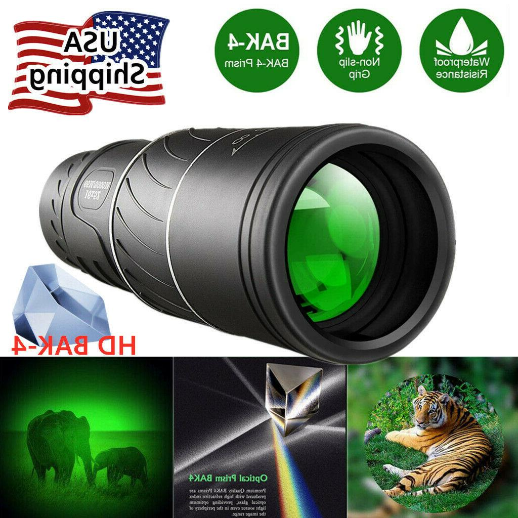 16x52 monocular with night vision bak4 prism