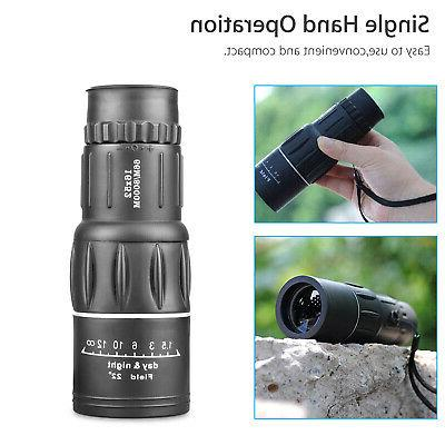 16x52 Zoom Lens Monocular Telescope Outdoor