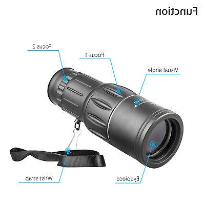 16x52 Lens Monocular Telescope Scope Outdoor