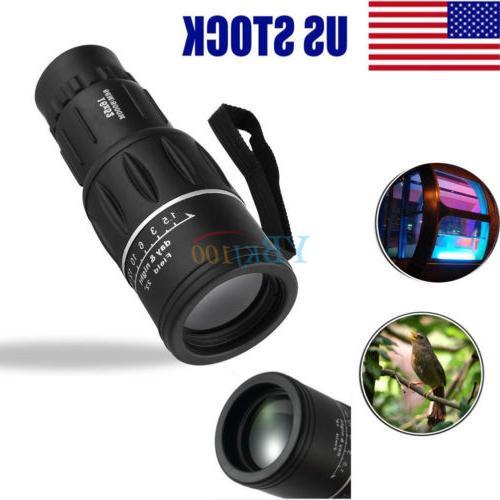16x52 optics zoom lens monocular camping hiking