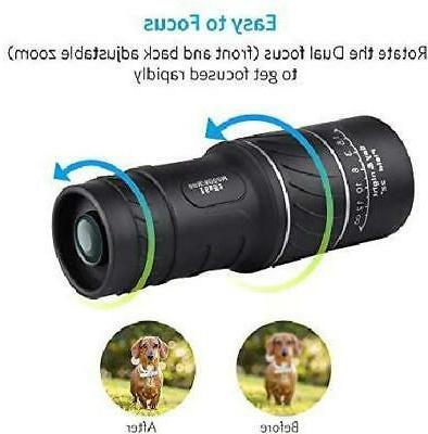 16x52 Waterproof Monocular Hunting Hiking Phone Zoom
