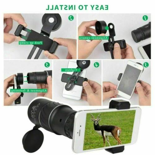 16X52 Zoom Telescope Monocular Lens Camping Hiking Optical Hunting Outdoor US