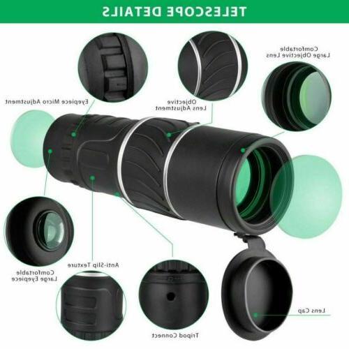 16X52 Zoom HD Monocular Lens Hiking Optical Outdoor