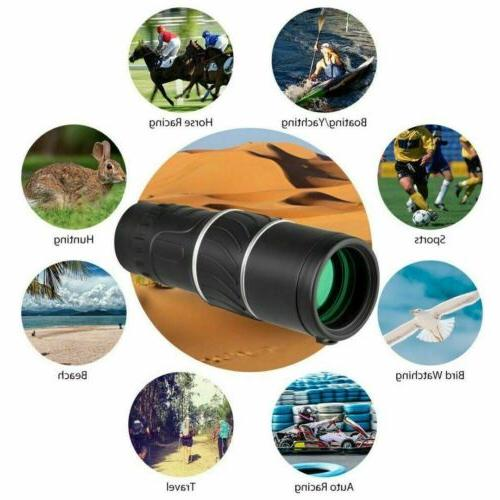 16X52 HD Monocular Lens Optical