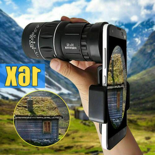 16X52 Zoom HD Telescope Monocular Lens Camping Hiking Optica