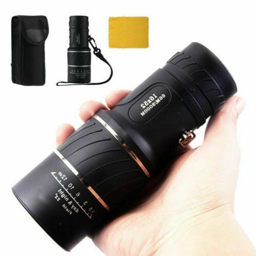 16x52 zoom hd telescope monocular lens camping