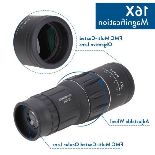 16X52 Monocular Telescope+Clip Travel Hunting