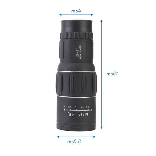 16X52 Zoom Optical HD Monocular Telescope+Clip for Outdoor Travel
