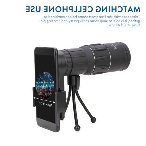 16X52 Monocular Telescope+Clip Travel Hiking