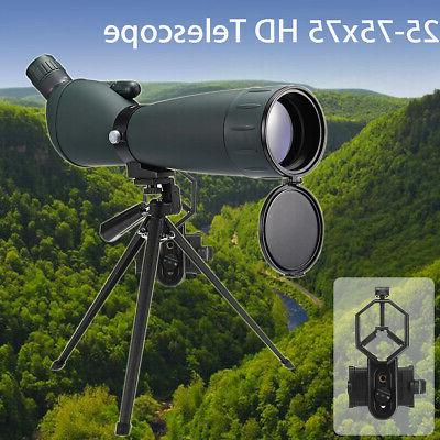 25-75X75 Spotting Scope Zoom Binoculars Monocular w/