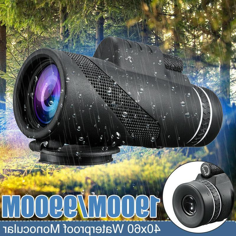 40x60 hd day night vision optical monocular