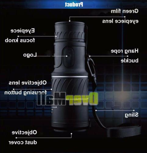 40x60 High BAK4 HD Monocular telescope night vision