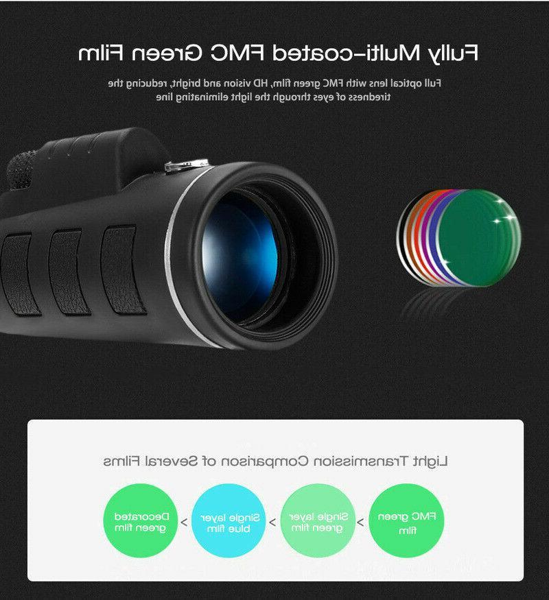 40X60 HD BAK4 Night Vision Monocular High Power Portable