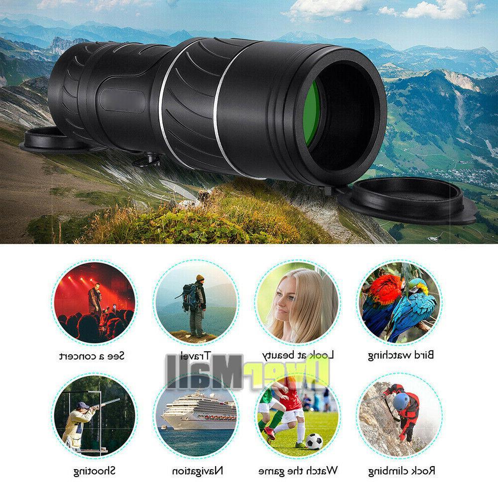 40X60 HD OPTICS Night Vision Monocular Power