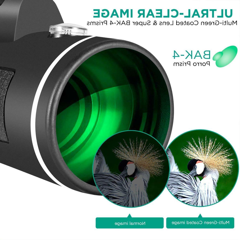 40x60 telescope Dual Focus Clip+Tripod US