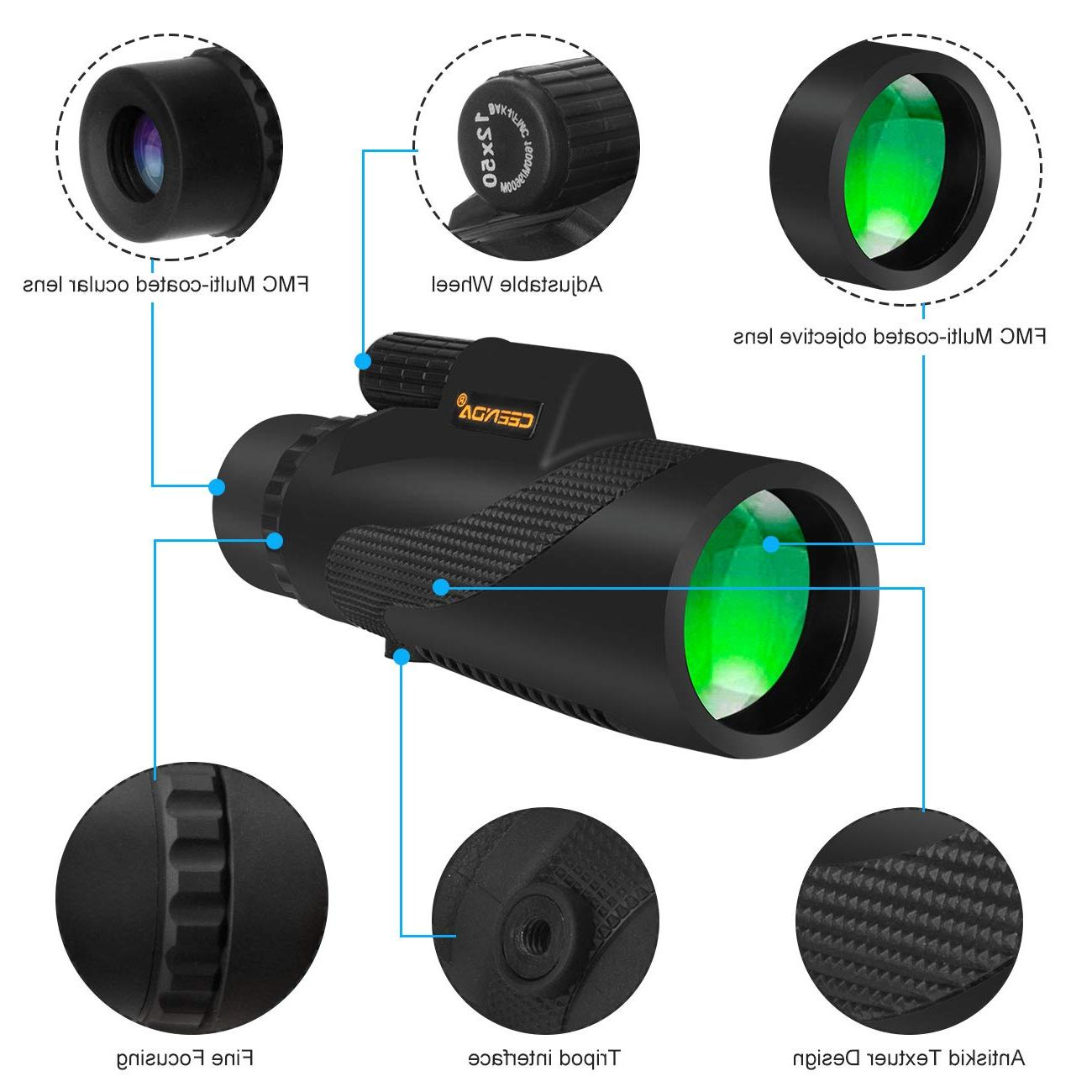 40x60 telescope Focus Monoculars +Phone Clip+Tripod US