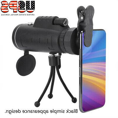 40X60 Monocular Telescope Compass Aluminum Tripod Monocular Scope