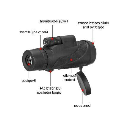40x60 Night Vision Optical Monocular Hunting Camping