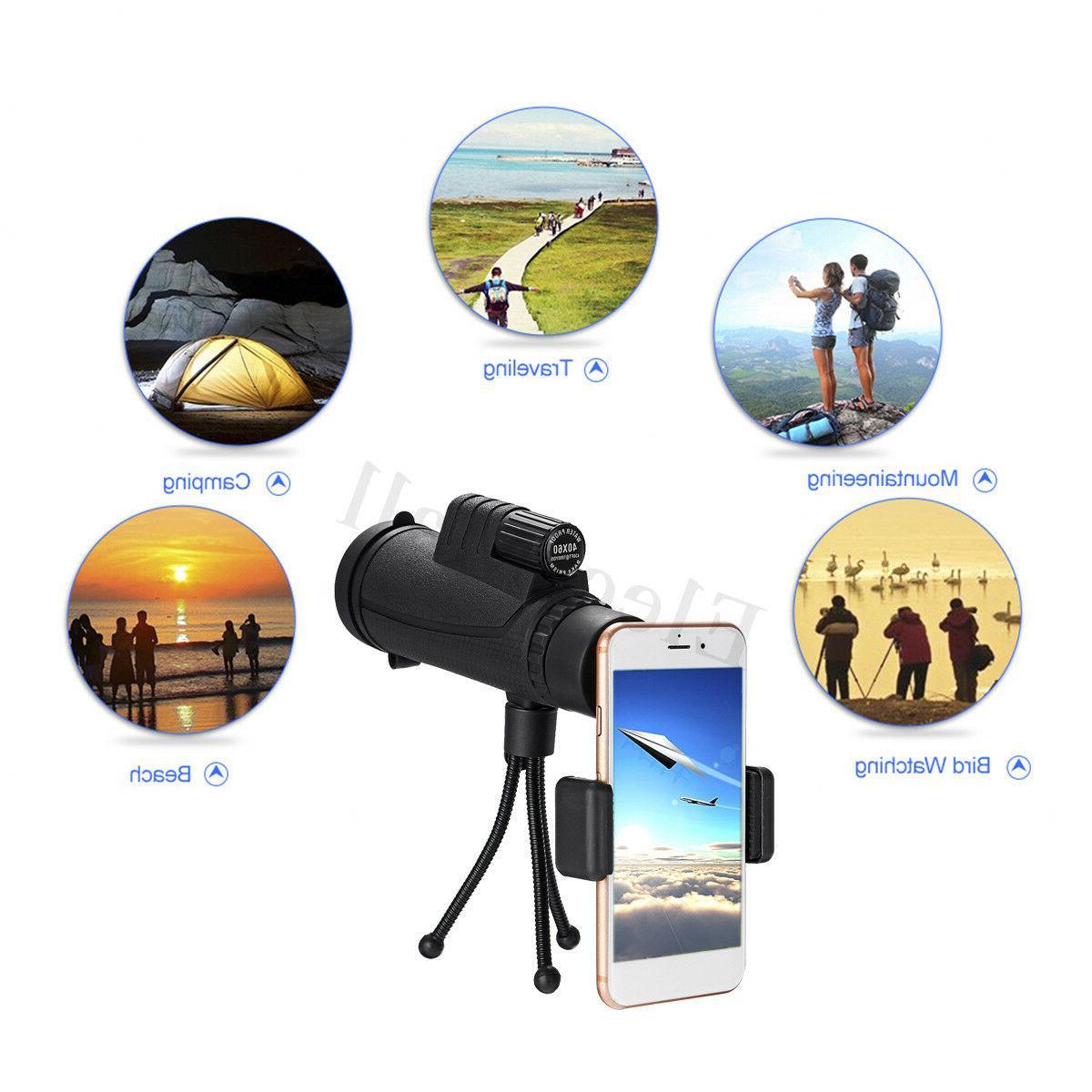 40X60 Telescope HD Lens Tripod + Clip for Mobile