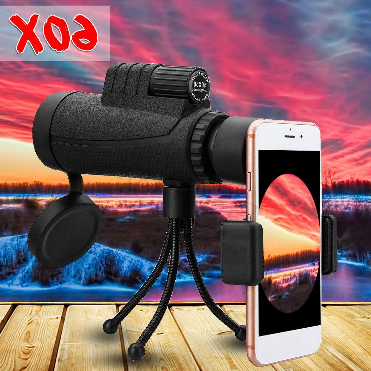 40X60 Zoom HD Optical + Tripod + for Mobile Phone