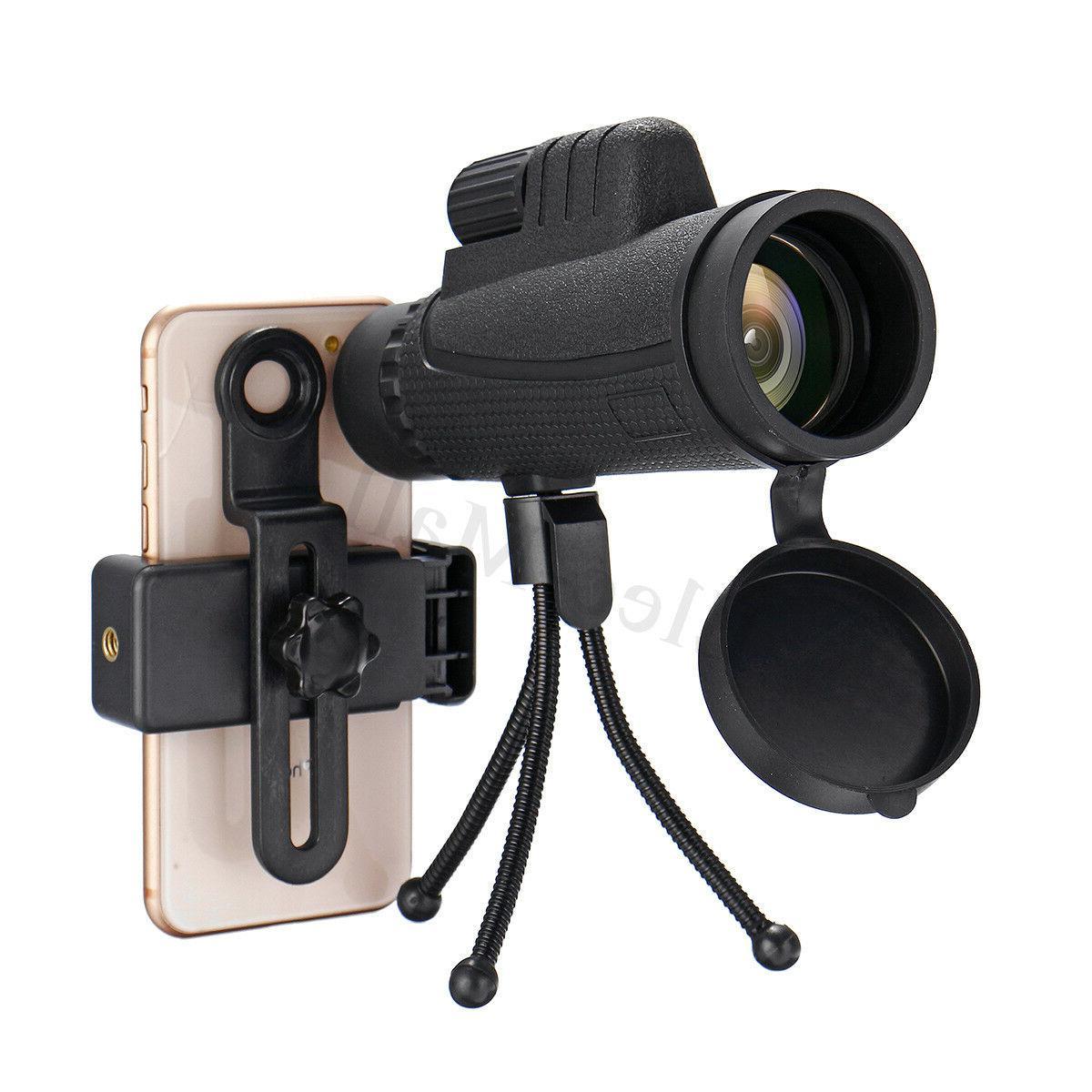 40X60 Monocular Telescope HD Optical Lens Tripod Mobile