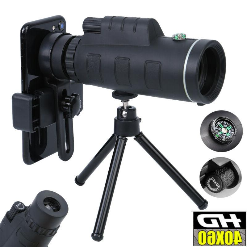 40x60 zoom optical hd lens monocular telescope